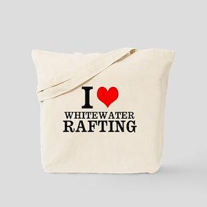 I Love Whitewater Rafting Tote Bag
