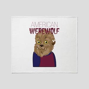 American Werewolf Throw Blanket