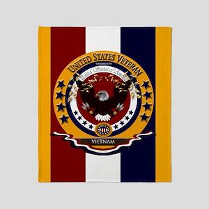 Us Veteran Vietnam War Throw Blanket