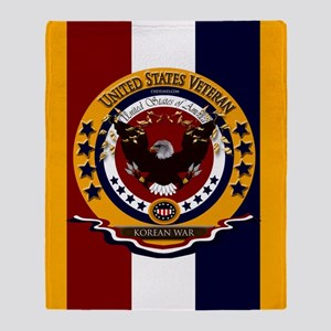 Us Veteran Korean War Throw Blanket