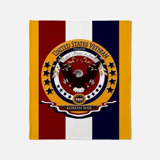 Us Veteran Korean War Throw Blanket