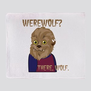 There Wolf Throw Blanket