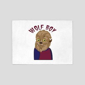 Wolf Boy 5'x7'Area Rug