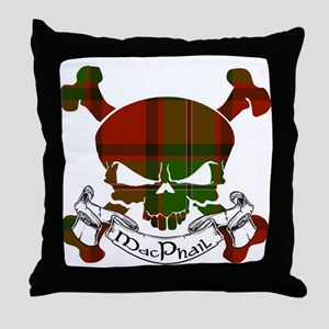 MacPhail Tartan Skull Throw Pillow