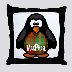 MacPhail Tartan Penguin Throw Pillow