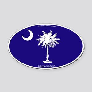 Sc_flag_tp Oval Car Magnet