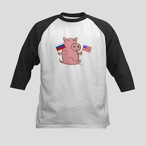 USA AND RUSSIA Kids Baseball Jersey