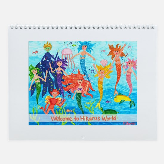 Hikaru's World - Little Mermaids Wall Calendar