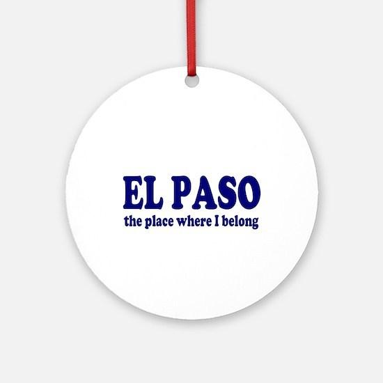 El Paso Ornament (Round)