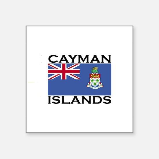 caymanislandsflgwht Sticker