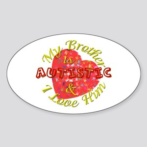 Autistic Brother Oval Sticker