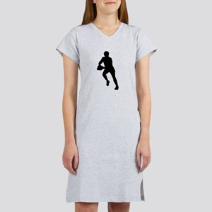 Rugby Player Silhouette Women's Nightshirt