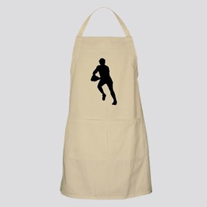 Rugby Player Silhouette Apron