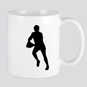 Rugby Player Silhouette Mugs