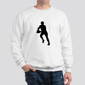 Rugby Player Silhouette Sweatshirt