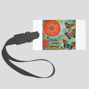 Celebrate Simple Moments Luggage Tag