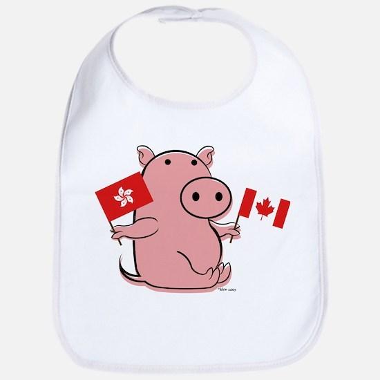 CANADA AND HONG KONG Bib
