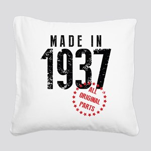 Made In 1937 All Original Parts Square Canvas Pill