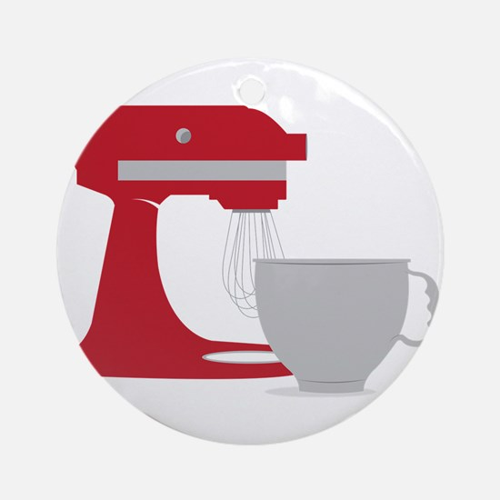 Red Stand Mixer Ornament (Round)