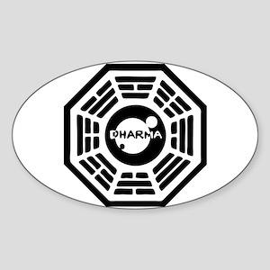 Dharma Hatch Oval Sticker
