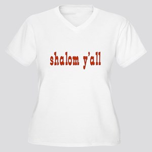 Greetings shalom y'all Women's Plus Size V-Neck T-
