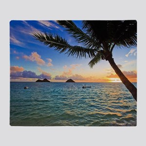 pacific sunrise at lanikai hawaii Throw Blanket