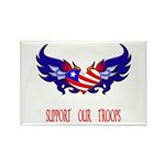 Support our Troops Heart Rectangle Magnet (10 pac