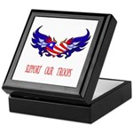 Support our Troops Heart Keepsake Box