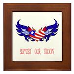 Support our Troops Heart Framed Tile