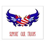 Support our Troops Heart Small Poster