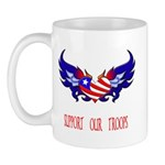 Support our Troops Heart Mug