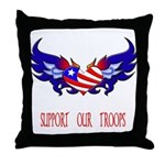 Support our Troops Heart  Throw Pillow
