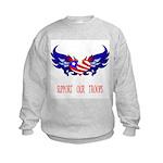 Support our Troops Heart Kids Sweatshirt
