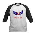 Support our Troops Heart Kids Baseball Jersey
