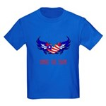 Support our Troops Heart Kids Dark T-Shirt