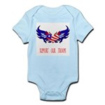 Support our Troops Heart Infant Bodysuit
