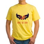 Support our Troops Heart Yellow T-Shirt