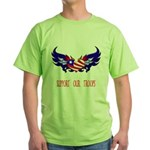 Support our Troops Heart Green T-Shirt