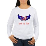 Support our Troops Heart Women's Long Sleeve T-Sh