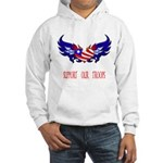 Support our Troops Heart Hooded Sweatshirt