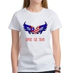 Support our Troops Heart Women's T-Shirt