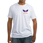 Support our Troops Heart Fitted T-Shirt