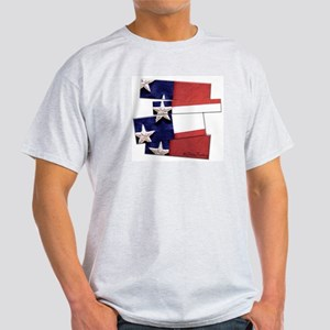 USA Flag Art Light T-Shirt