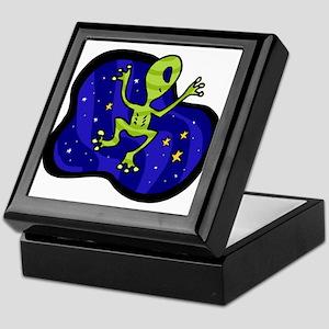 Alien Frog. Keepsake Box