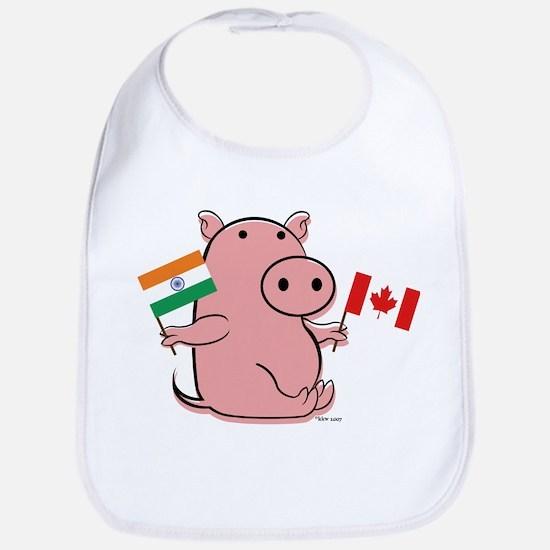 CANADA AND INDIA Bib