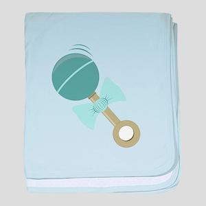 Blue Rattle baby blanket