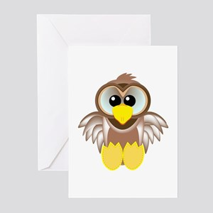 Cute Little Goofkins Owl Greeting Cards (Package o