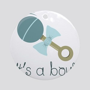 Its A Boy! Ornament (Round)