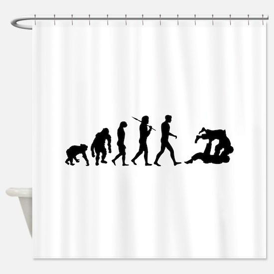 Evolution of Judo Shower Curtain