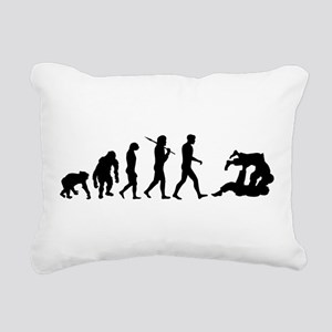 Evolution of Judo Rectangular Canvas Pillow